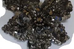 Black Sequins Beads Motif