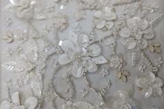 Sequins white bridal beading