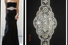 Silver-stones-beaded-Belts-on-black-dress