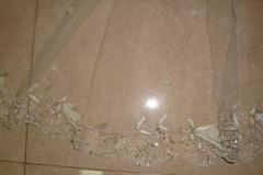 silver thread beaded veil