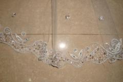 white sequins beading on veils